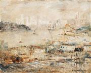 Sale 8565 - Lot 525 - George Feather Lawrence (1901 - 1981) - Mist over the City, 1976 25 x 31.5cm