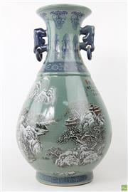 Sale 8594D - Lot 43 - Winter Themed Chinese Vase With Qing Mark