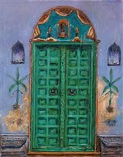 Sale 8642A - Lot 5058 - Stanley Perl (1942 - ) - No. 13 (Doors of India Series) 50.5 x 40cm