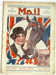 Sale 8639 - Lot 38 - 12 War Issues of The Sydney Mail, War Issue, lots of stories and pictures on the Great War and with colourful covers.