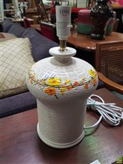 Sale 8637 - Lot 1094 - An Italian Flavia Table Lamp with Orange & Yellow Floral Motifs (Retro1)