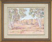 Sale 8789 - Lot 2036 - Vicki Darken (1929 - 1974) - Sunlit Bluffs 29 x 39cm
