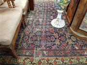 Sale 8939 - Lot 1074 - Antique Persian Wool Carpet with Herati Pattern (Damages). 477 x 223cm