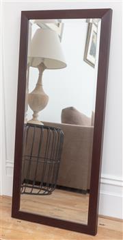 Sale 9070H - Lot 49 - A timber framed bevelled edge rectangular mirror, 108cm x 47.5