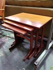 Sale 8566 - Lot 1033 - G-Plan Teak Nest of Tables (52 x 41 x 56)
