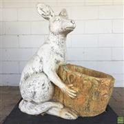 Sale 8649R - Lot 28 - Concrete Kangaroo Form Planter (H: 74cm)