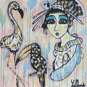 Sale 8880A - Lot 5003 - Yosi Messiah (1964 - ) - Time Out 85 x 85 cm