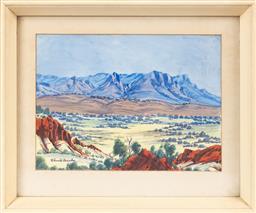 Sale 9170H - Lot 41 - Claude Pannka, watercolour, SLL, 24.5cm x 34.5cm