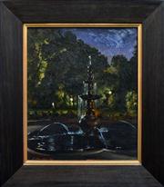 Sale 8286 - Lot 514 - Peter Churcher (1964 - ) - Nocturne 5 - The Fountain, 1997 41 x 36cm