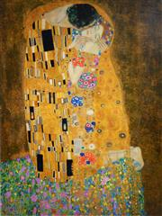 Sale 8492A - Lot 5031 - Gustav Klimt (1862 - 1918) - The Kiss 80 x 59cm (frame size: 98 x 78cm)