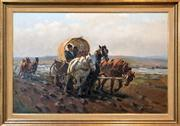 Sale 8411A - Lot 5054 - János Viski (1891 - 1987) - Crossing Through Country 60 x 91.5cm