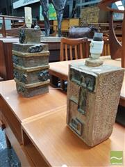 Sale 8451 - Lot 1096 - Pair of Vintage Ceramic Table Lamps