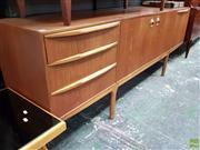 Sale 8566 - Lot 1078 - Quality McIntosh Teak Sideboard with Frog Eye Handles
