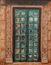 Sale 8657A - Lot 5098 - Stanley Perl (1942 - ) - Doors with Pillars (Doors of India Series) 50.5 x 40cm