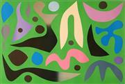 Sale 8658A - Lot 5002 - John Coburn (1925 - 2006) - Aubusson Green, 1973 59 x 88cm (sheet size: 70 x 100.5cm)