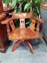 Sale 8672 - Lot 1016 - Blackwood Captains Chair with Arts-and-Crafts design