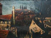 Sale 8755 - Lot 527 - Desiderius Orban (1884 - 1986) - Rothenburg ob der Tauber 57.5 x 76.5cm