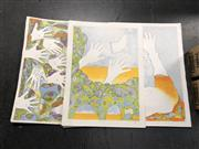 Sale 8819 - Lot 2151 - Martin Wiener - The Hands that Built Israel 6x Lithographs -