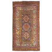 Sale 9061C - Lot 55 - Antique Caucasian Kazak Rug, Circa 1940, 140x245cm, Handspun Wool