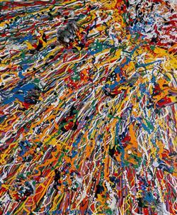 Sale 9093A - Lot 5055 - Simon Mackley (1967 - ) - Spacestorm 59 x 50 cm (frame: 89 x 73 x 4 cm)
