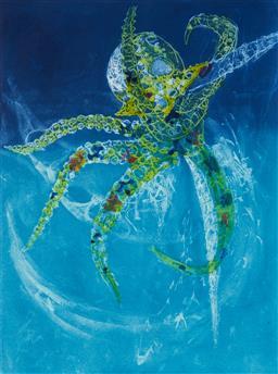 Sale 9112A - Lot 5011 - Frank Hodgkinson (1919 - 2001) - Octopus, 1997 60 x 44.5 cm (frame: 95 x 76 x 4 cm)