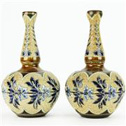Sale 8292 - Lot 83 - Doulton Lambeth Stoneware Pair of Vases