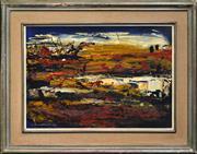Sale 8316 - Lot 503 - Karlis Mednis (1910 - 1999) - On the Beach, 1960 39.5 x 55cm