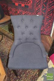 Sale 8390 - Lot 1280 - Pair of Coal Fabric Button Back Chairs