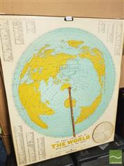 Sale 8449 - Lot 2084 - 'The Great Circle Map of the World with Sydney at the Centre' 1966 Astronomical/Longitude Teaching Aid