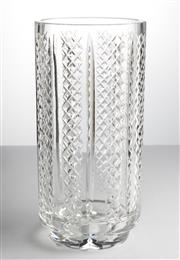 Sale 8518A - Lot 2 - Vintage Irish Waterford hand cut lead crystal tall vase of excellent quality, Ht: 25.5cm x D:12.5cm