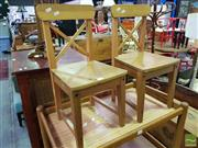 Sale 8545 - Lot 1092 - Pair of Timber Kids Chairs