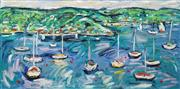 Sale 8642 - Lot 534 - Nada Herman (1965 - ) - Harbour Scene 101 x 203cm