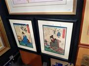 Sale 8695 - Lot 2009 - A Pair of Japanese Woodblock Prints -