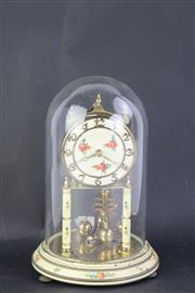 Sale 8802 - Lot 251 - A Brass Dome Case Clock (Height: 23cm)