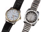 Sale 8837 - Lot 329 - TWO GENTS WRISTWATCHES; a Seiko Solar 100m ref. V158-0AD0 in stainless steel with white dial, applied markers, center seconds, day...