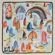Sale 8880A - Lot 5073 - Yosi Messiah (1964 - ) - Emerald Blue 85 x 85 cm