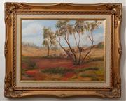 Sale 8926K - Lot 44 - CHARLOTTE THOMAS - Bush Landscape 29.0 x 39.0cm