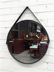 Sale 9071 - Lot 1041 - Round Metal Framed Mirror (d:55cm)