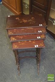 Sale 8390 - Lot 1116 - Nest of Four Oriental Style Tables