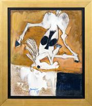 Sale 8427 - Lot 515 - Robert Juniper (1929 - 2012) - Rosinante Painting, 2005 30 x 25cm