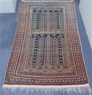 Sale 8440A - Lot 76 - A geometric prayer rug in muted tones, 160 x 88cm