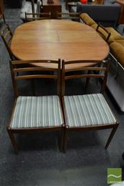 Sale 8528 - Lot 1063 - G-Plan Teak Seven Piece Dining Setting incl. Table and Six Chairs