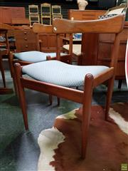 Sale 8607 - Lot 1016 - Set of Six Vintage Parker Paddleback Dining Chairs