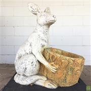 Sale 8649R - Lot 29 - Concrete Kangaroo Form Planter (H: 74cm)