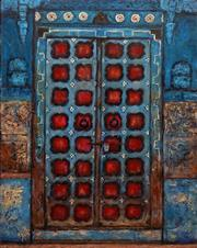 Sale 8716 - Lot 2067 - Stanley Perl (1942 - ) - Doors of India (No. 13) 50.5 x 40.5cm