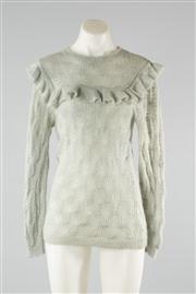 Sale 8740F - Lot 18 - A Zimmerman mint green knit jumper in a wool/mohair blend, size 1.