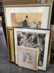 Sale 8767 - Lot 2092 - Group of Assorted Decorative Prints and a Watercolour (framed.various sizes) -