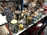 Sale 8789 - Lot 2296 - Trinkets incl. Tortoise, Candle Holders, Wooden Frog, etc