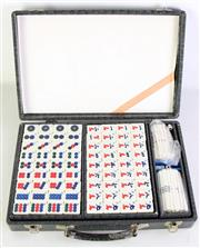 Sale 8977 - Lot 33 - A Cased Mahjong Set together with Fujian Lacquer Ware