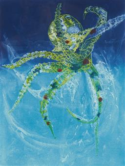 Sale 9112A - Lot 5033 - Frank Hodgkinson (1919 - 2001) - Octopus, 1997 60 x 44.5 cm (frame: 94 x 76 x 4 cm)